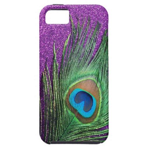 Del pavo real todavía de la pluma vida reluciente  iPhone 5 fundas