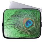 Del pavo real todavía de la pluma vida verde reluc mangas portátiles