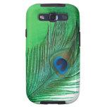 Del pavo real todavía de la pluma vida verde y bla galaxy s3 carcasa