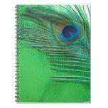 Del pavo real todavía de la pluma vida verde y bla libros de apuntes con espiral