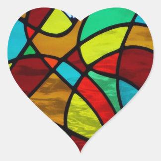 """Del """"pegatina abstracto corazón del amor"""" del"""