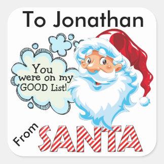 Del pegatina del navidad de SANTA - SRF