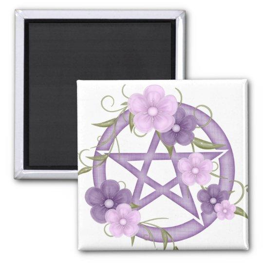 ♥ del Pentagram del ♥ (mystical-1) Imán Cuadrado