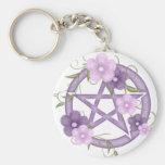 ♥ del Pentagram del ♥ (mystical-1) Llaveros Personalizados