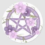 ♥ del Pentagram del ♥ (mystical-1) Pegatina Redonda