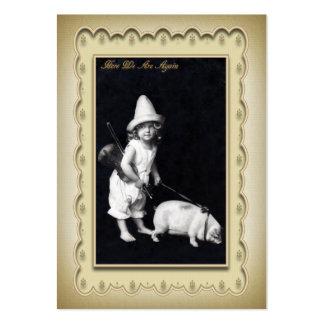 Del perfil tarjeta guarra y mini de la postal de I Tarjetas De Visita Grandes