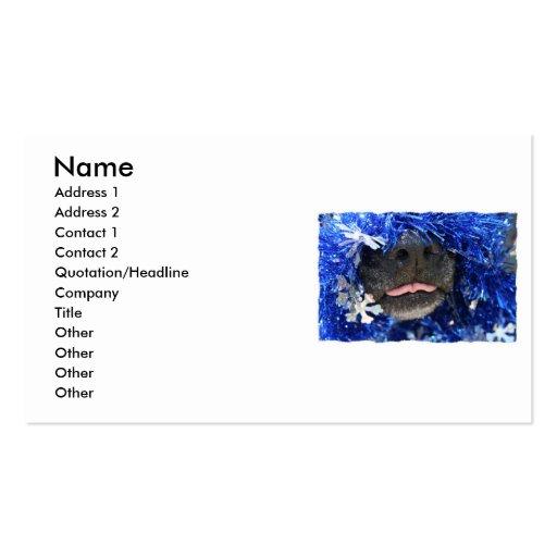 Del perro del navidad de la opinión marco simple d tarjetas de negocios
