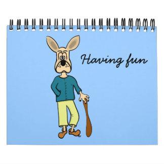 """Del """"perro divertido arte del dibujo animado"""" del calendarios"""