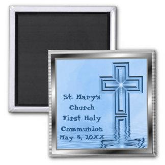Del personalizado imanes de la comunión santa prim imán cuadrado