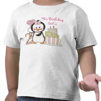 Del pingüino de Cutie- del chica cumpleaños en seg Camiseta