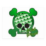 del pirata cráneo irlandés skully postal