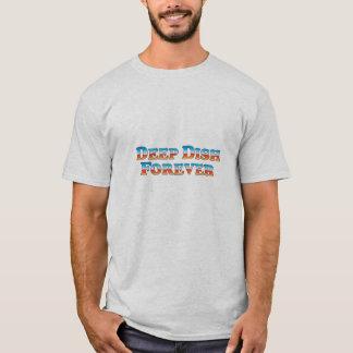 Del plato camiseta básica profunda para siempre -