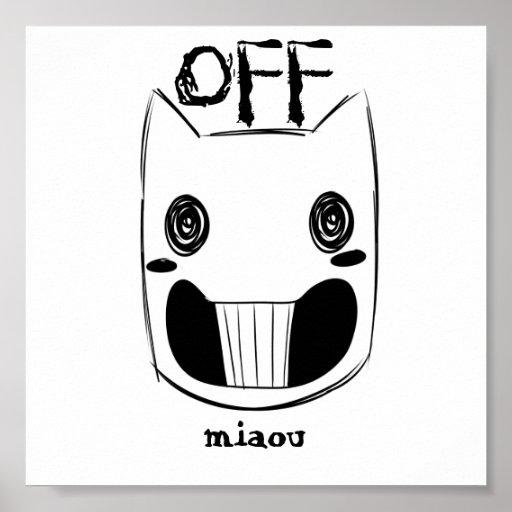 - Del poster de la máscara del miaou