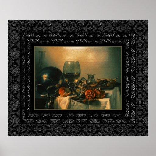 Del poster del vintage todavía del arte pintura de