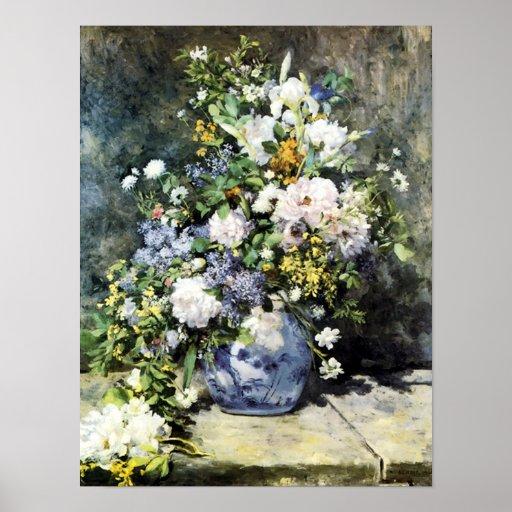 "Del ""poster ramo de la primavera"" de Renoir - Póster"