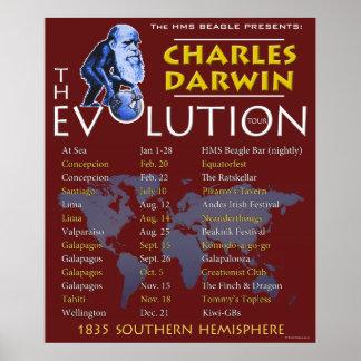 """Del """"poster viaje de la evolución"""" de Charles Darw Póster"""
