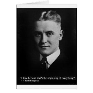 Del principio de Scott Fitzgerald regalos etc de l Tarjeton