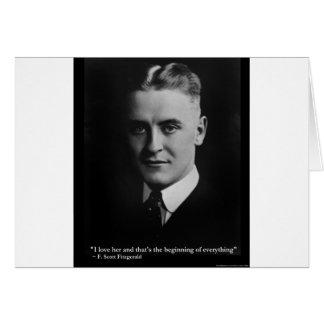 Del principio de Scott Fitzgerald regalos etc de l Felicitación