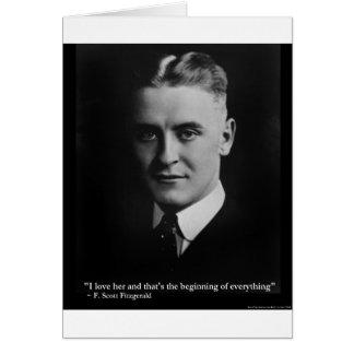 Del principio de Scott Fitzgerald regalos etc de l Felicitaciones