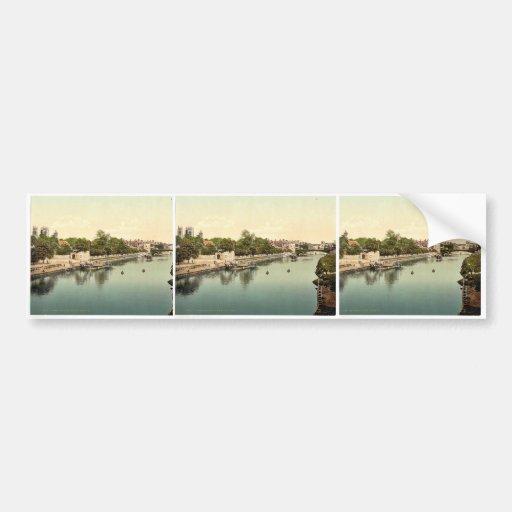 Del puente ferroviario, obra clásica Photoch de Yo Pegatina De Parachoque