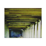 Del puente impresión cercana de la lona para arrib impresión en lienzo estirada
