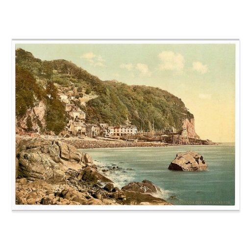 Del puerto, Clovelly, vintage Photoch de Inglaterr Tarjetas Postales