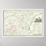 Del Quijote de Mapa-Mapa de la Ruta de la ruta del Posters
