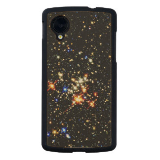 ~ del racimo del Quintuplet (espacio exterior) Funda De Nexus 5 Carved® De Arce