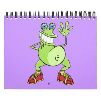 """Del """"rana divertida arte del dibujo animado"""" del C Calendarios"""