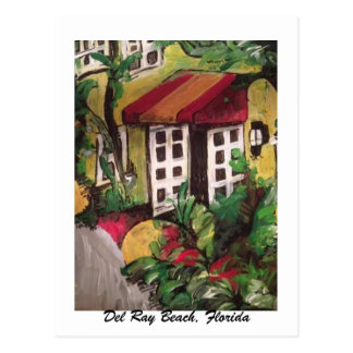 Del Ray Beach, Florida Hotel Painting Postcard