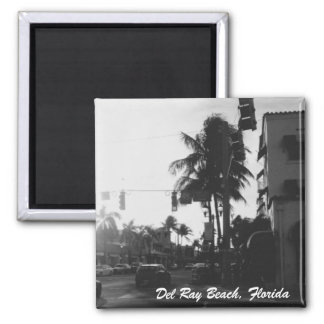 Del Ray Beach, Florida Street Photo Magnet