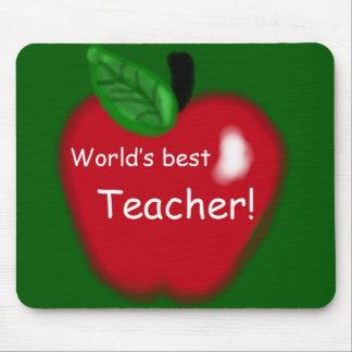 """Del """"regalo mejor profesor del mundo"""" de Apple Tapete De Ratón"""