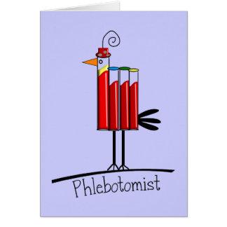 """Del """"regalos pájaro del tubo de la sangre"""" de tarjeta de felicitación"""