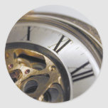 del reloj cierre para arriba pegatina redonda
