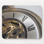 del reloj cierre para arriba alfombrillas de ratones