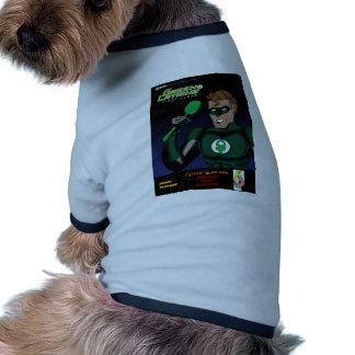 Del retrete rubor verde primero camisetas de perrito