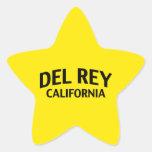 Del Rey California Calcomanía Cuadrada