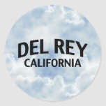 Del Rey California Pegatina Redonda