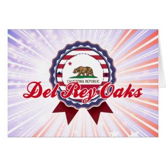 Del Rey Oaks, CA Tarjeta De Felicitación