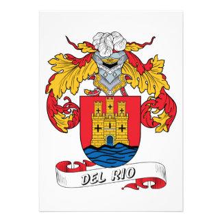 Del Rio Family Crest Invitations