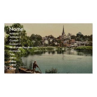 Del río, I., Ross-en-Horqueta, Inglaterra P clásic Tarjetas De Visita
