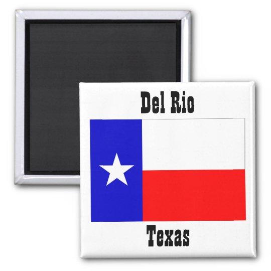 Del Rio texas flag magnets souvenirs