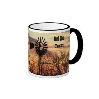 Del Rio texas souvenir windmill Mugs