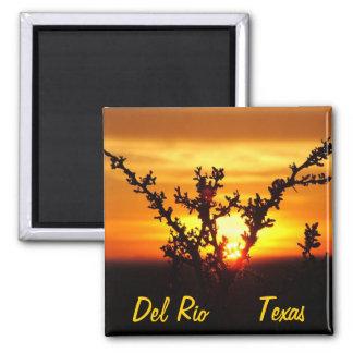 Del Rio Texas souvenirs desert brush sunset Refrigerator Magnet