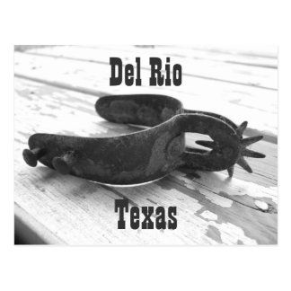 Del Rio Texas spur postcard