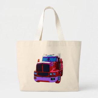 Del rojo camión semi bolsa