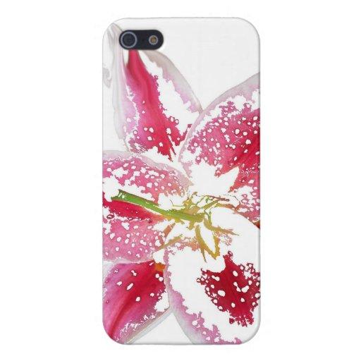 del rosa caso de IPhone 5 lilly iPhone 5 Funda