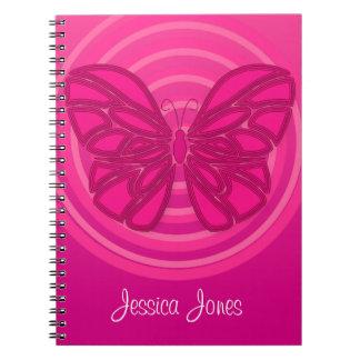 Del rosa cuaderno butterflly