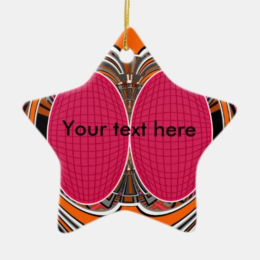 Del rosa diseño anaranjado superfly ornamentos de navidad