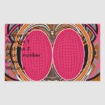 Del rosa diseño anaranjado superfly pegatina rectangular
